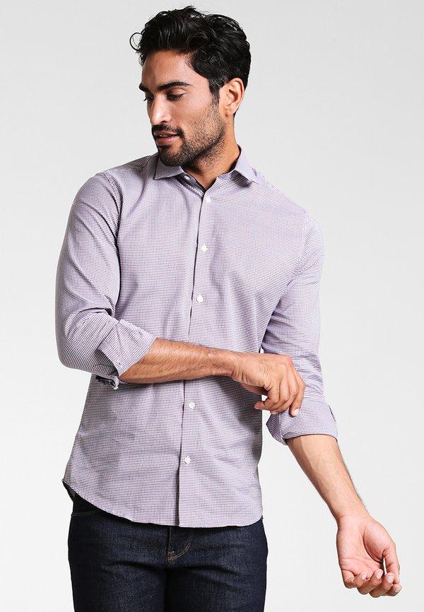 Selected Homme SLHSLIMNEW MARK - Koszula biznesowa - bright white/red/navy/white/biały Odzież Męska PYRH