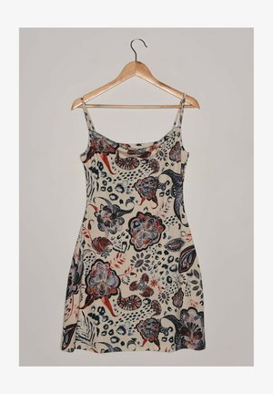 Denní šaty - mottled beige/black