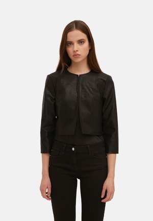 Faux leather jacket - nero