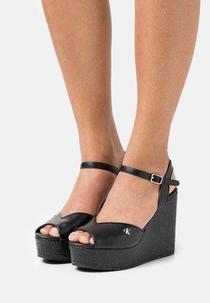 WEDGE ANKLE - Sandály na platformě - black