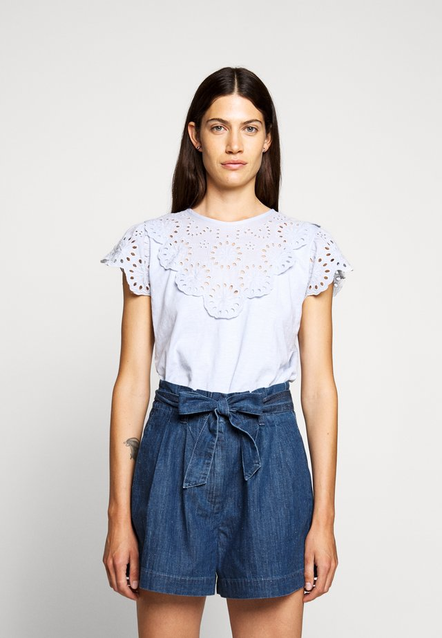 SCALLOPED - Bluse - shale blue