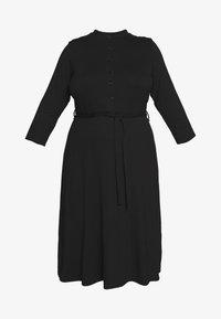 Dorothy Perkins Curve - GRANDAD COLLAR DRESS - Jersey dress - black - 4
