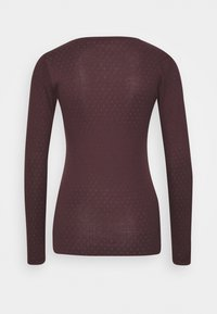 Noa Noa - ESSENTIAL NEW POINTELLE  - Long sleeved top - chocolate plum - 1