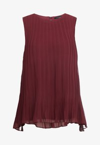 Club Monaco - PLEATED SWING TOP - Blouse - currant - 4