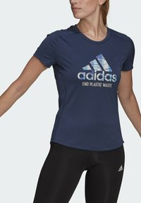 adidas Performance - RUN FOR THE OCEANS GRAPHIC - T-shirts med print - blue - 2