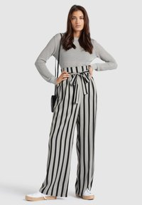 khujo - EIVOLA - Trousers - black grey - 1