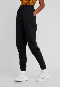 Even&Odd - HIGH WAISTED LOOSE FIT JOGGERS  - Joggebukse - black - 0