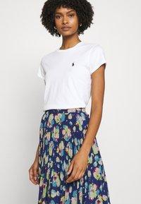 Lauren Ralph Lauren - DRAPEY SKIRT - A-line skirt - blue/multi - 3