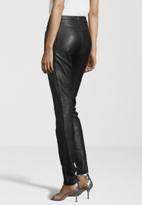 KRISS - Leather trousers - black - 2