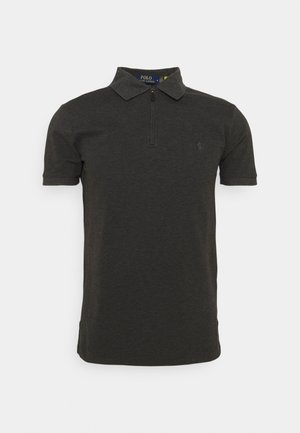 SLIM FIT STRETCH MESH POLO SHIRT - Polo shirt - dark grey heather