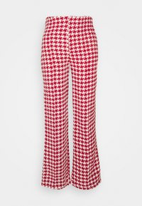 Missguided Petite - COORD SCOOP NECK CROP AND SEAM TROUSER SET - Trousers - red - 1