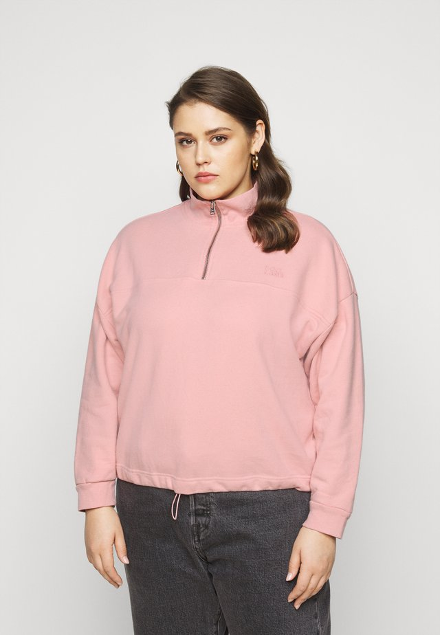 PL POM QTR ZIP - Sweatshirt - blush