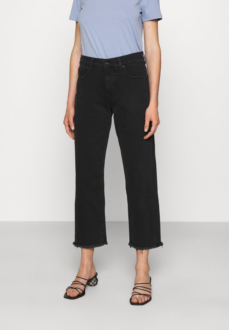 7 for all mankind - THE MODERN STRAIGHT FEARLESS - Džíny Straight Fit - black