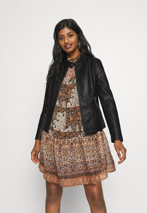 ONLMELISA JACKET PETIT - Faux leather jacket - black
