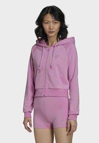 adidas Originals - Zip-up sweatshirt - pink - 0