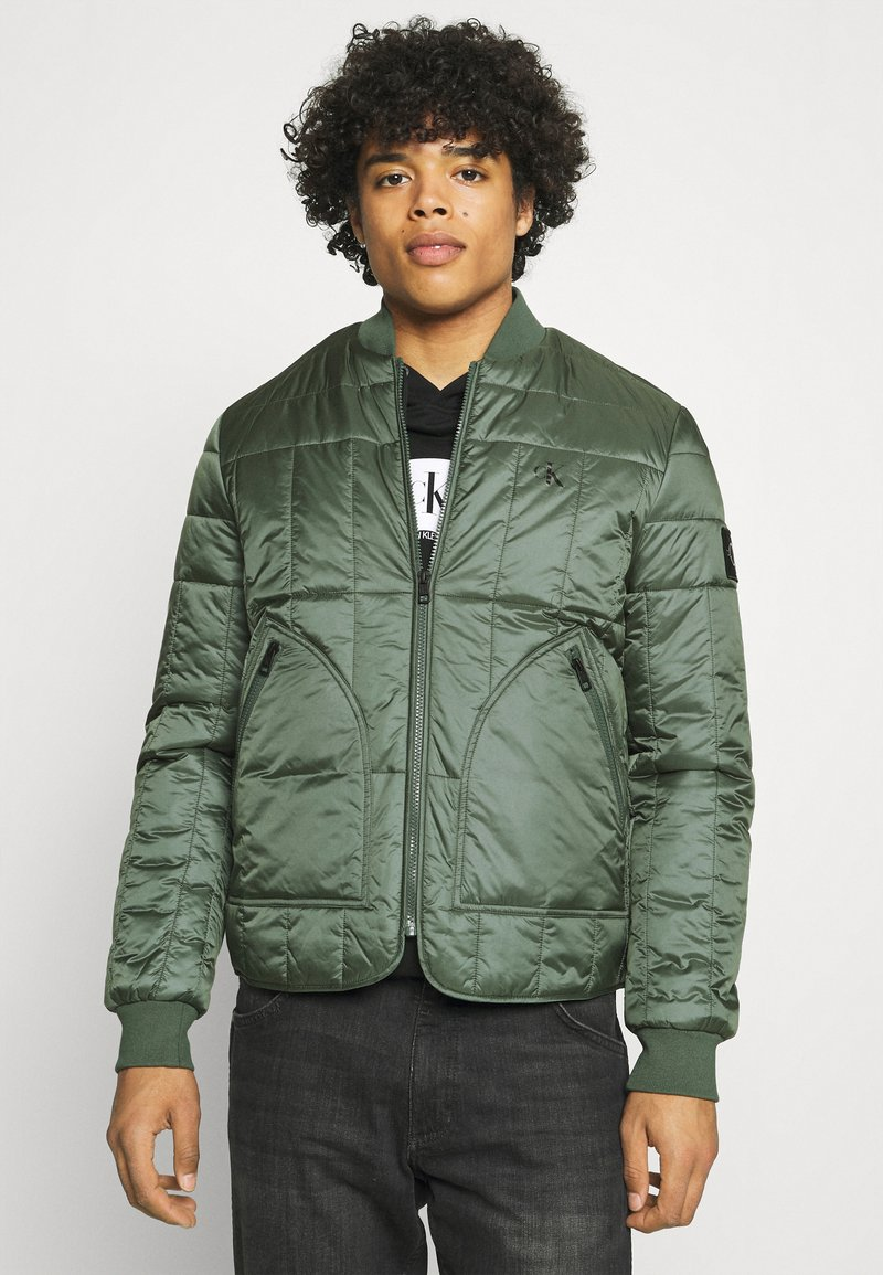 Calvin Klein Jeans - QUILTED LINER JACKET - Bomber Jacket - duck green