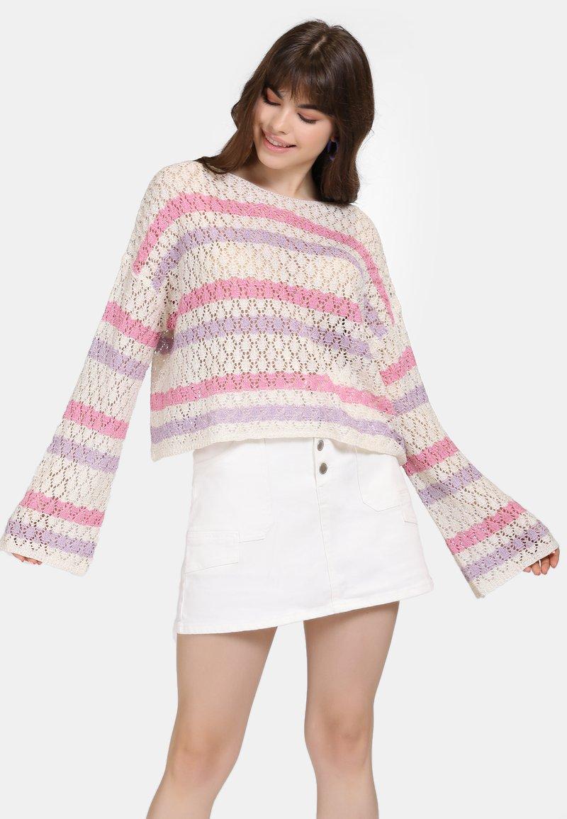 myMo - Jumper - beige/pink