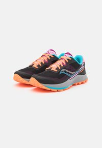 Saucony - PEREGRINE 11 - Trail running shoes - future black - 1