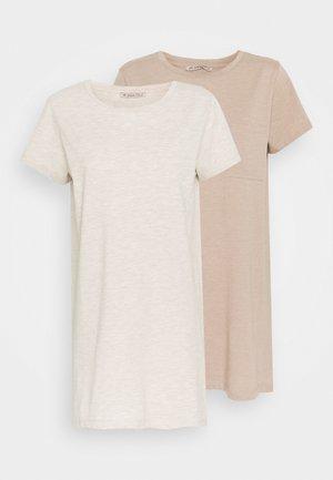 2 PACK - Noční košile - brown