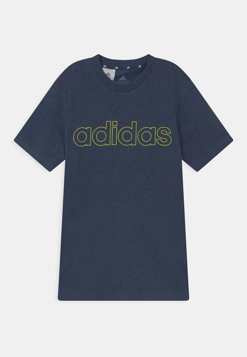 adidas Performance - UNISEX - T-Shirt print - dark blue/yellow