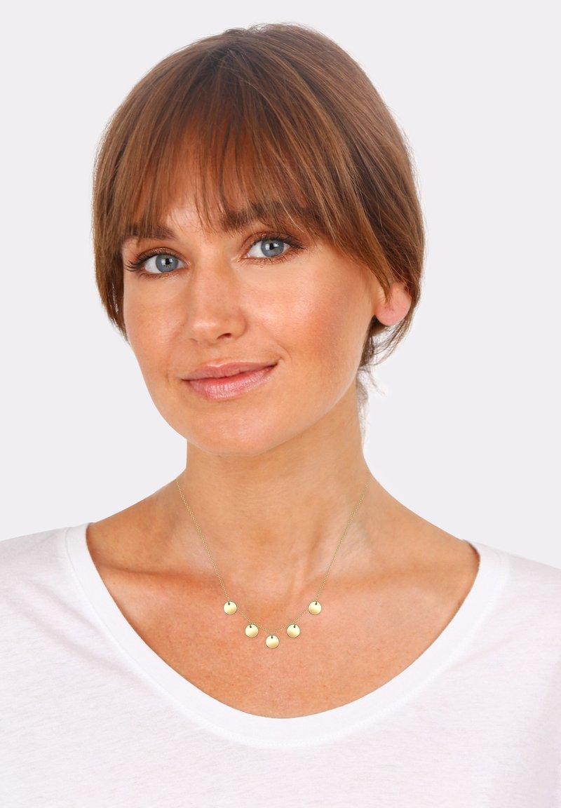 Elli - PLÄTTCHEN - Necklace - gold-coloured