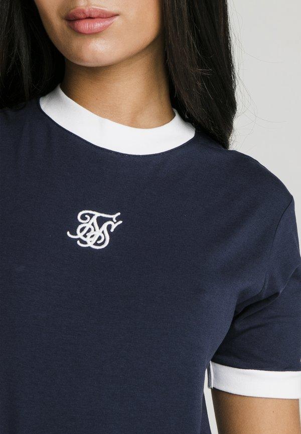 SIKSILK RINGER - T-shirt z nadrukiem - navy Nadruk Odzież Damska IICF EZ 9