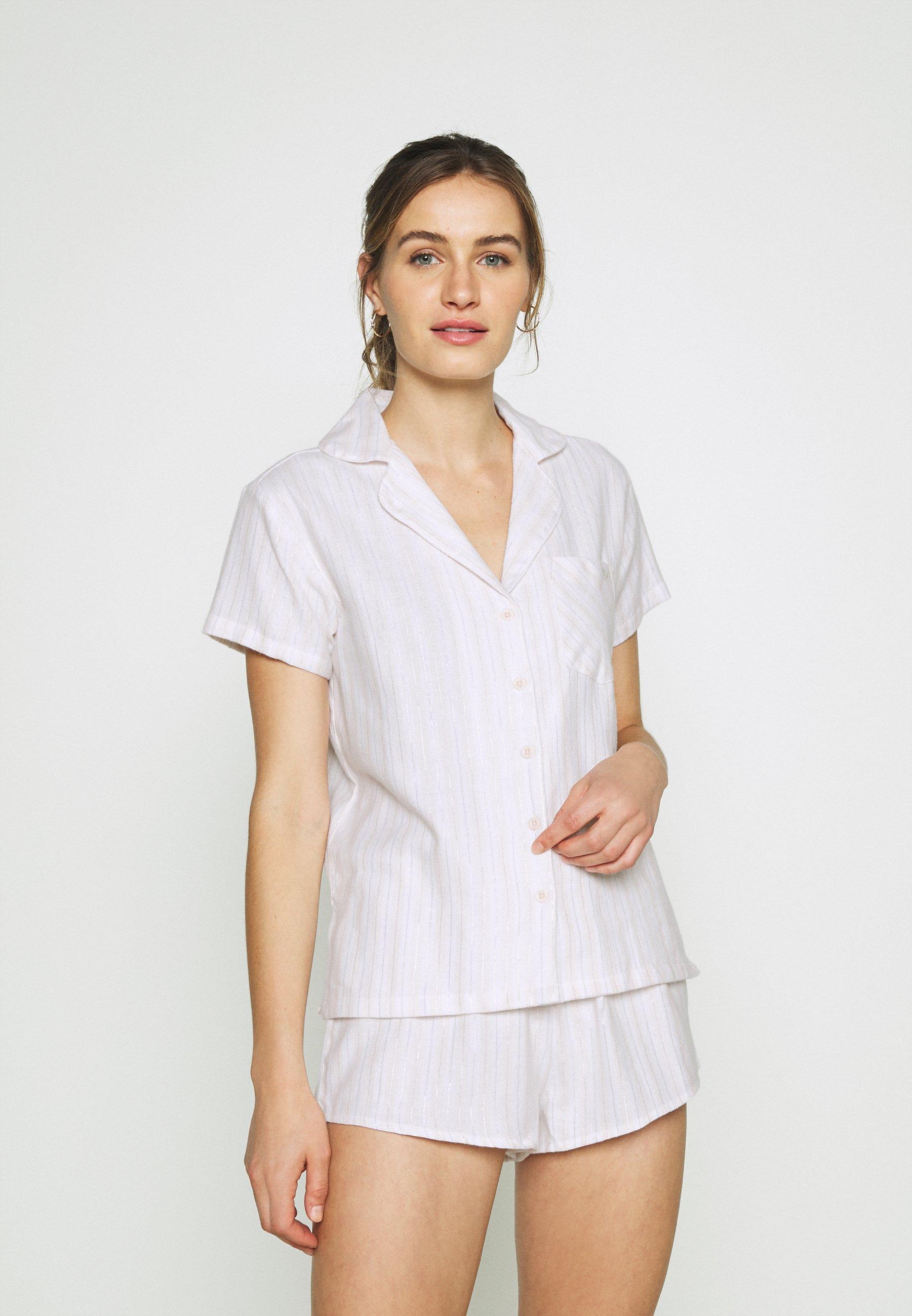 Damen STRIPE SHORTIE IN A BAG SET - Pyjama