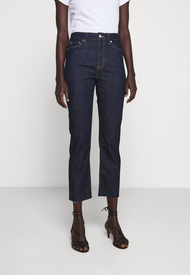 SOFT STRAIGHT RAW - Jeans a sigaretta - rinse wash