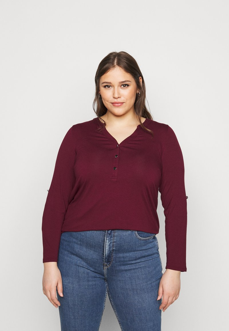 Evans - Long sleeved top - wine