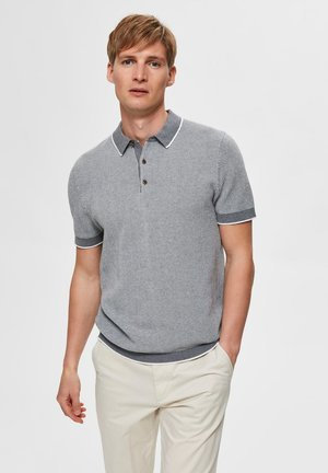 Polo shirt - medium grey melange