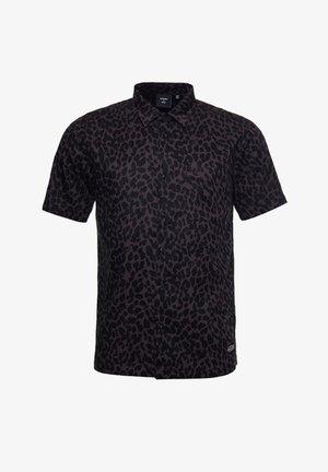 Chemise - charcoal leopard