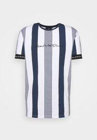 VEDTON STRIPE TEE - T-shirt med print - black iris/white