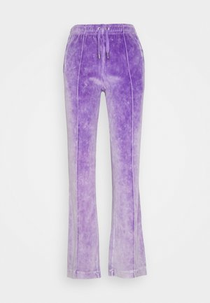 TINA TRACK PANTS - Tracksuit bottoms - pastel lilac acid wash