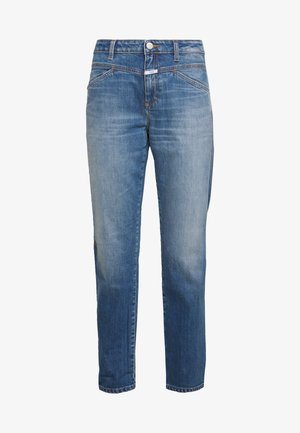 CROPPED - Džíny Straight Fit - mid blue