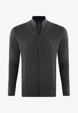 MEN'S FRONT FULL-ZIP CARDIGAN - Vest - antracite