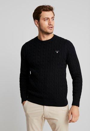 CABLE CREW - Stickad tröja - black