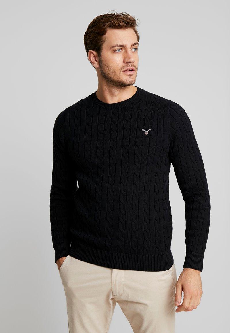 GANT - CABLE CREW - Stickad tröja - black
