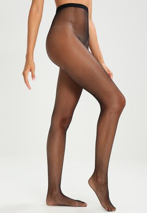 73 DEN COLLANT RESILLE    - Collants -  noir