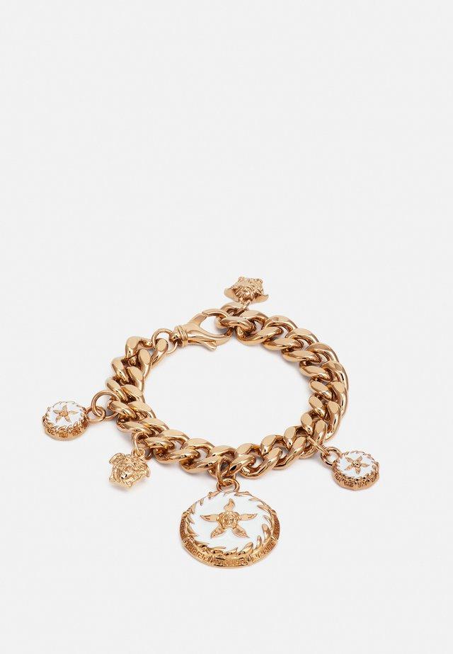 ROUND STAR BRACELET - Armbånd - gold-coloured/bianco