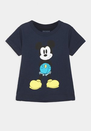 MICKEY MOUSE MICKEY IN JEANS TEE UNISEX - Print T-shirt - obsidian