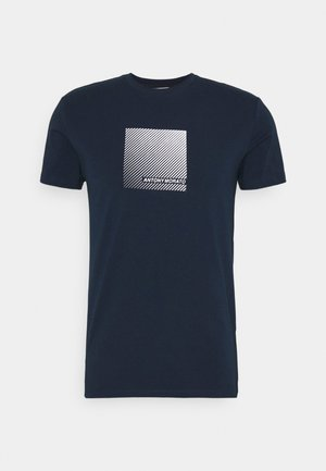 SUPER SLIM FIT  - T-shirt print - avio blue