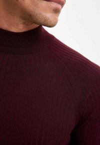 DeFacto - Stickad tröja - bordeaux - 3