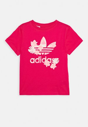 TEE - T-shirts med print - power pink