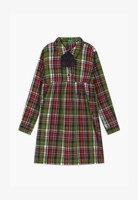Benetton - HARRY ROCKER  - Shirt dress - red/green - 0