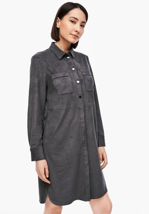 Shirt dress - granite grey