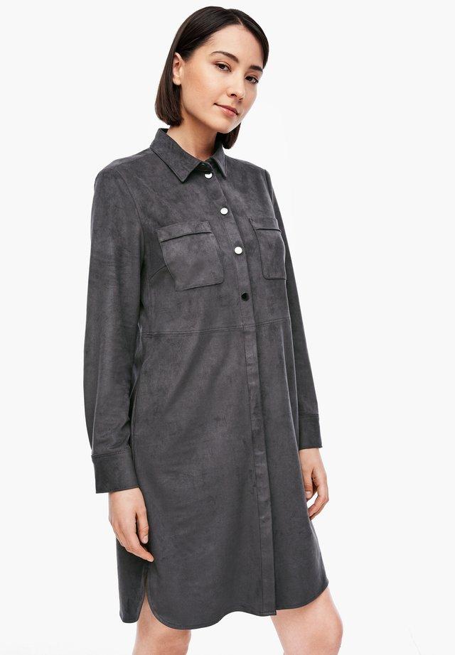 Shirt dress - granite grey