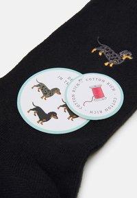 Wild Feet - EMBROIDERED SOCKS DOGS 3 PACK - Socks - black - 1