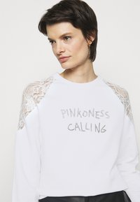 Pinko - MILIARDARIO MAGLIA FELPA - Sweatshirt - white - 3