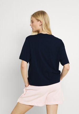 BOXY NATURE - Print T-shirt - obsidian