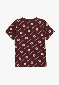 Converse - MICRO SIGNATURE CHUCK PRINTED TEE - Print T-shirt - dark burgundy - 1